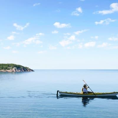 Kayak de mer à Charlevoix