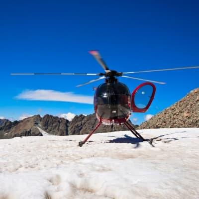 Le glacier en hélicoptère !