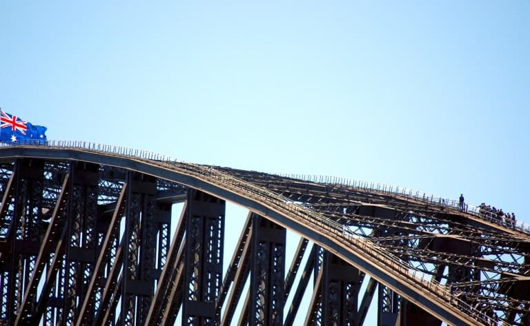 Au sommet d'Harbour Bridge