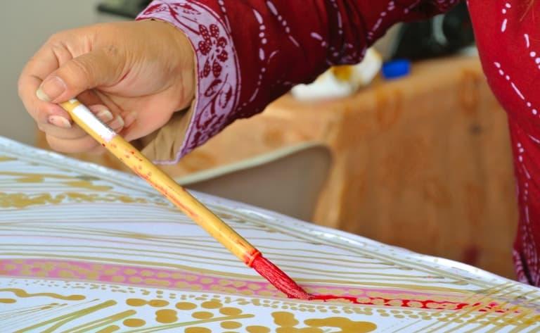 Visite d'une fabrique de batiks à Penang