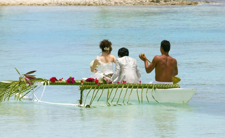 Mariage polynésien à Moorea